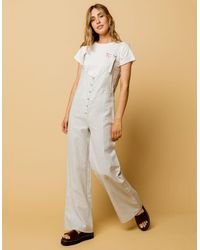 Amuse Society Fina Womens Jumpsuit - White