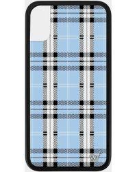 the latest 257b9 b13bd Blue Plaid Iphone X/xs Case