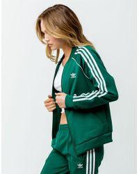 adidas - Sst Collegiate Green Womens Track Jacket - Lyst