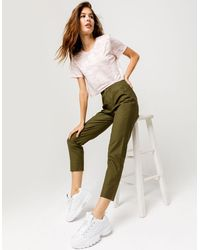 Sky and Sparrow Sky & Sparrow Crop Olive Womens Pants - Green