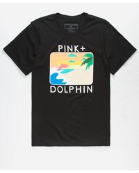 Pink Dolphin - Palm Portrait Mens T-shirt - Lyst