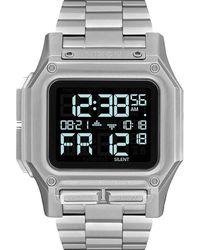 Nixon Regulus Digital Bracelet Watch - Metallic