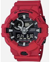 G-Shock 'g Shock' Quartz Resin Casual Watch - Red
