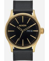 Nixon Sentry Leather Watch - Multicolor