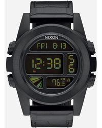 Nixon - Unit Ss Leather Watch - Lyst