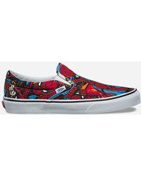 Vans - X Marvel Spider-man Classic Slip-on Shoes - Lyst