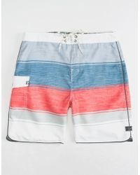5ca109ff86 Lyst - Rip Curl State Park Stripe Boardshorts in Blue for Men