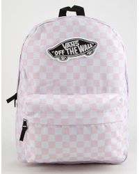 Vans - Realm Checkerboard Backpack - Lyst