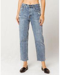 RVCA Holli High Rise Straight Leg Womens Jeans - Blue