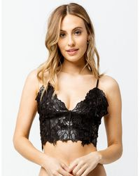 Say What? ? Lace Embroidered Black Bralette