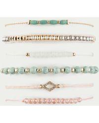 Full Tilt 6 Pack Marble & Bead Bracelets - Multicolor