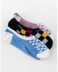 Vans - 3 Pack Multi Check Womens Canoodle Socks - Lyst