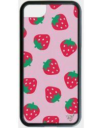 Wildflower Strawberry Iphone 6/7/8 Case - Pink