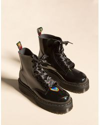 Dr. Martens - Molly Rainbow Patent Black Womens Boots - Lyst