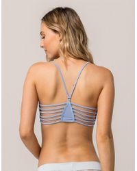 Say What? - ? Cage Back Blue Bralette - Lyst