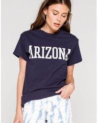 Full Tilt Arizona Womens Boyfriend Tee - Blue