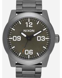 Nixon - Corporal Ss Gunmetal Watch - Lyst