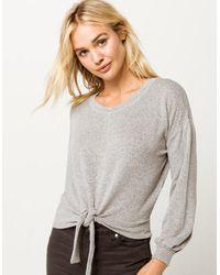 Billabong All Tied Up Knit Womens Top - Gray