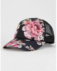 Billabong - Heritage Mashup Black Womens Trucker Hat - Lyst