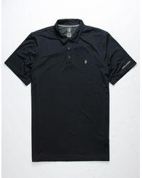 Volcom Wowzer Hazard Mens Polo Shirt - Black