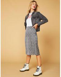 WEST OF MELROSE Leaf Me Alone A-line Midi Skirt - Multicolor