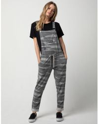 Others Follow Camo Womens Overalls - Black