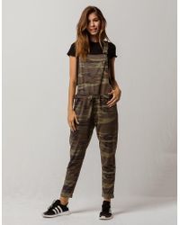 Others Follow Camo Womens Overalls - Green