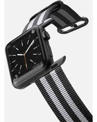 Casetify - 42mm Nylon Stripe Black Apple Watch Band - Lyst