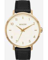 Nixon - Arrow Leather Gold Cream & Black Watch - Lyst