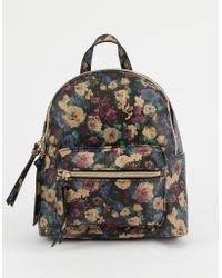 T-Shirt & Jeans - Faux Leather Floral Mini Backpack - Lyst