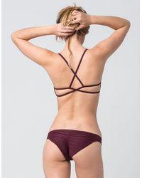 Full Tilt Strap Side Bikini Bottoms - Multicolor