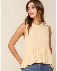 WEST OF MELROSE Go With The Flow Sleeveless Womens Babydoll Top - Black