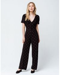 Amuse Society On The Bright Side Womens Jumpsuit - Black