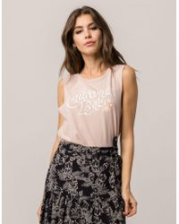 Amuse Society - Desert Wave Rose Womens Muscle Tank Top - Lyst