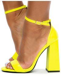 Liliana Liverpool-1 Chunky Heels - Yellow