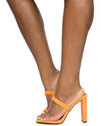 Liliana Daline Orange High Heels