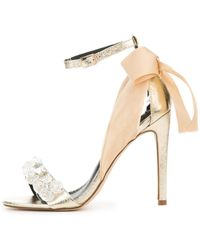 Cape Robbin Lola-19 Gold High Heel - Metallic