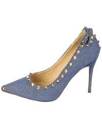 SHIEKH Studded High Heel Mandi-07 - Blue