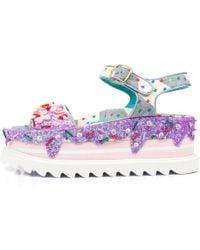 Irregular Choice - Pebble Bay Lilac Platform Sandals - Lyst