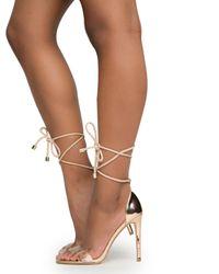 Cape Robbin Drew-37 Rose Gold High Heels - Metallic