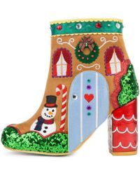 Irregular Choice Gingerbread House Ankle Boots - Green