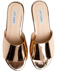 Cape Robbin Allie-2 Rose Gold Platform Sandal - Multicolour