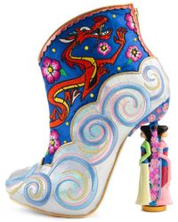 Irregular Choice Disney's Mulan X Be True To Who You Are Bootie - Blue