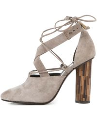 Free People Nouvella Wrap Taupe Heels - Multicolour