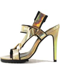ee7ac3401bd7 YRU - Joi Gold High Heels - Lyst