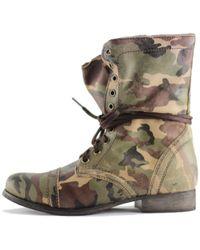 Steve Madden | Combat Boot Troopa | Lyst