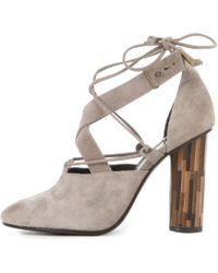 Free People Nouvella Wrap Taupe Heels - Multicolor