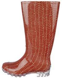 2c7cf1d0dcc Lyst - TOMS Blue Raindrop Print Women s Cabrilla Rain Boots in Blue