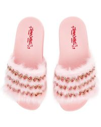 Jeffrey Campbell The Edie Slide In Pink Combo