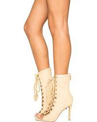 Cape Robbin Eva-1 Lace-up Boot - Natural